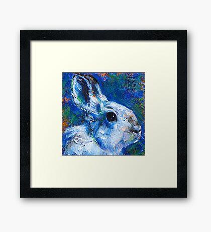 Earth Keeper: Snowshoe Hare Framed Print