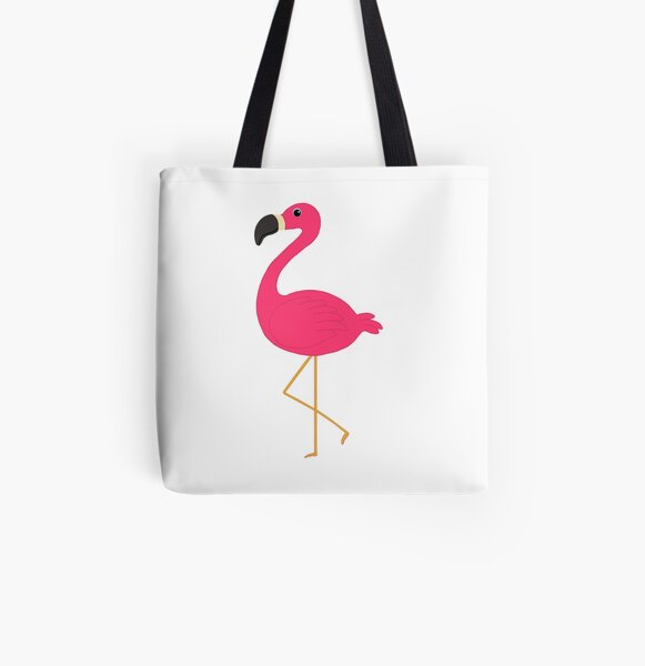 Cute Pink Flamingo All Over Print Tote Bag