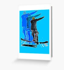 Super Dabbing on Cycle Greeting Card