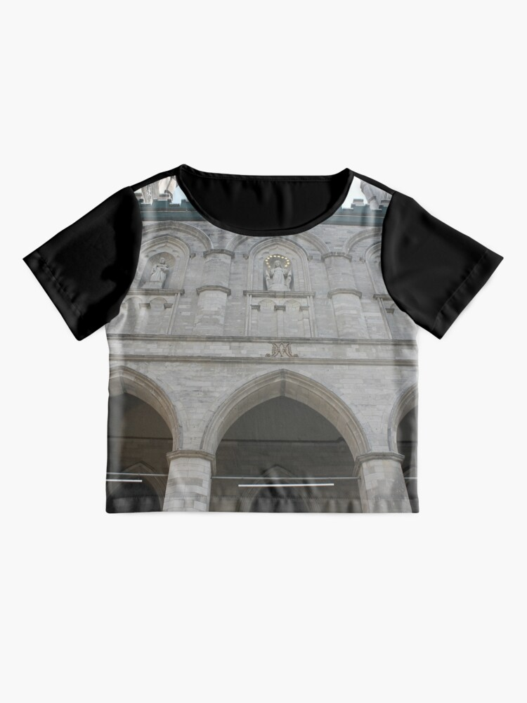 Alternate view of Notre-Dame Basilica, architecture, church, cathedral, building, religion, basilica, landmark, detail, old, city, gothic, stone, ancient, travel, arch, facade, medieval, monument, historic, sculpture Chiffon Top