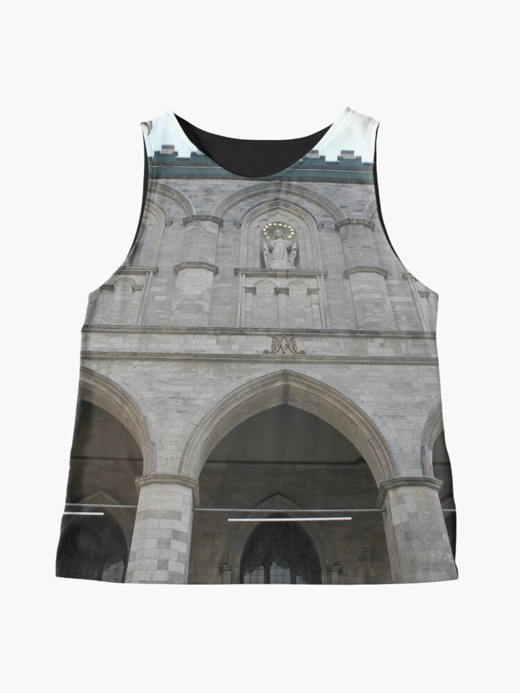 Alternate view of Notre-Dame Basilica, architecture, church, cathedral, building, religion, basilica, landmark, detail, old, city, gothic, stone, ancient, travel, arch, facade, medieval, monument, historic, sculpture Sleeveless Top