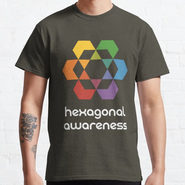 Hexagonal Awareness (dark background) Classic T-Shirt