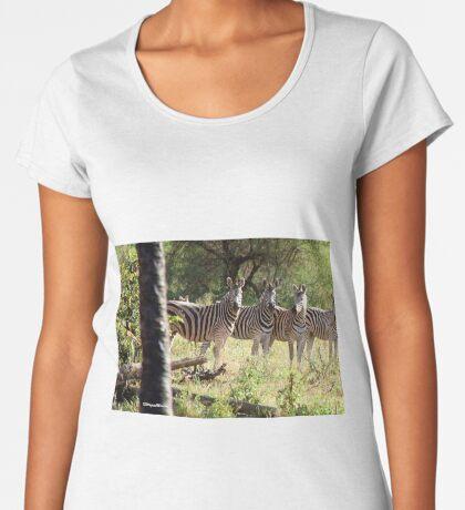 ARE WE SUPPOSE TO SMILE - BURCHELL'S ZEBRA – Equus burchelli – Bontkwagga Women's Premium T-Shirt