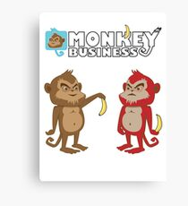 Monkey bussines Canvas Print
