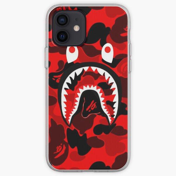 bape rojo Funda blanda para iPhone