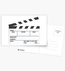 Clapperboard (b&w) Postcards