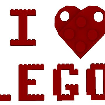 I Love Lego by bxbrix