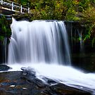Waterfall at Rice Dam (Left Side) by Aaron Campbell