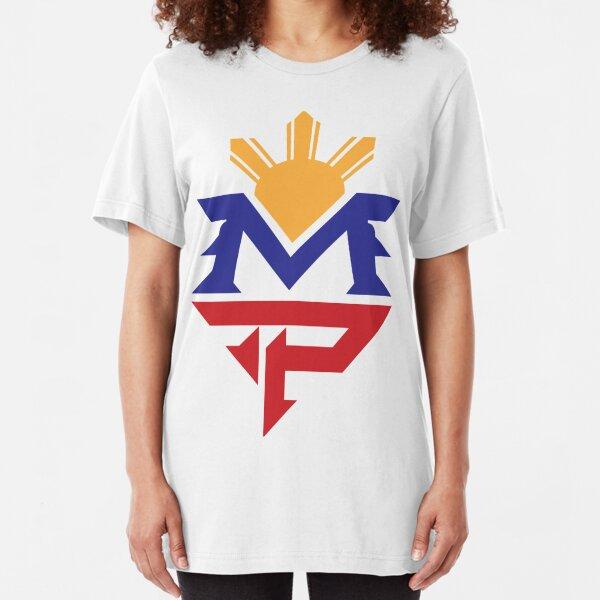 Manny MP Pacquiao Filipino Sun Flag Slim Fit T-Shirt