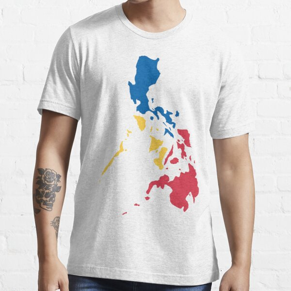 Philippines Filipino Map Sun and Stars Flag Essential T-Shirt