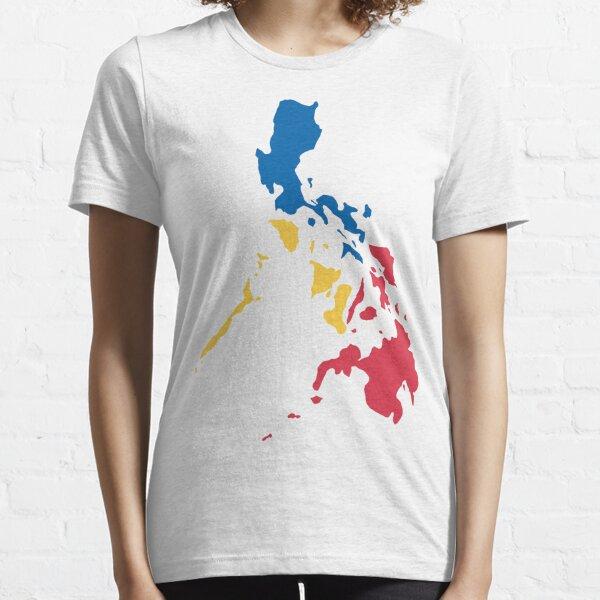 Philippinen Philippinische Karte Sonne und Sterne Flagge Essential T-Shirt