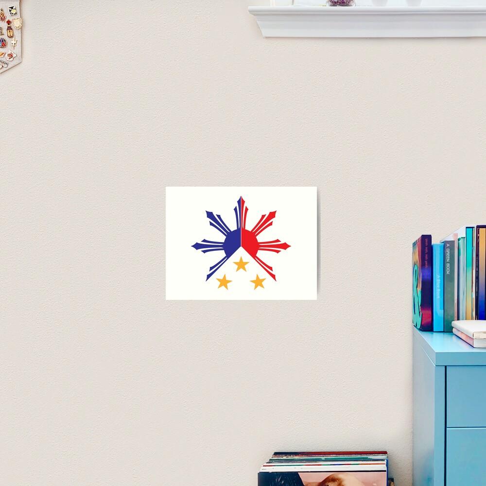 Tribal Philippines Filipino Sun and Stars Flag Art Print