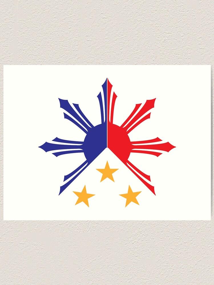 Alternate view of Tribal Philippines Filipino Sun and Stars Flag Art Print