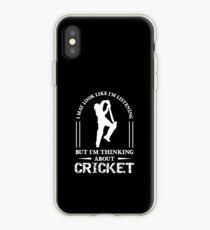 Im Thinking About Cricket, Funny Cricket Gift, Cricket Player Gift iPhone Case