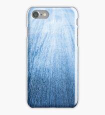 long blue woodern table iPhone Case/Skin