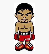 Wütender Manny Pacquiao Cartoon von AiReal Bekleidung Fotodruck