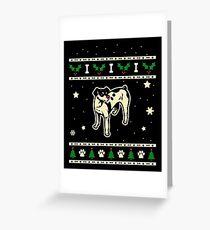 Christmas Rat Terrier Dog Gift Greeting Card