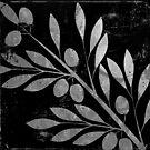 Bellisima Silver Olives on Black by mindydidit