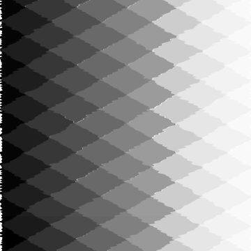 Geometric ombre black and white diamonds by hellcom