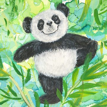 Panda Bear in Yoga Pose 'Hand to Toe' from Yoga for Little Bears by MonicaArtist