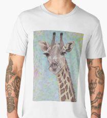 African Giraffe Men's Premium T-Shirt