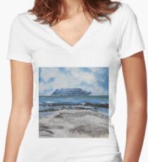 Table Mountain Women's Fitted V-Neck T-Shirt