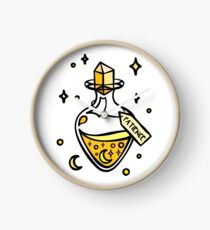 Patience Yellow Magic Potion Bottle. Witch, Wizard, Halloween, Magical, Stars and Moons Liquid Luck Potion. Clock