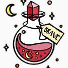 Tapferer Zaubertrank. Magisches Zaubertrankgebräu des roten Hauses, Hexe, Zauberer, magischer Bann. von tachadesigns