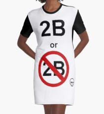 Hamlet, Shakespeare: To be or not to be. Graphic T-Shirt Dress