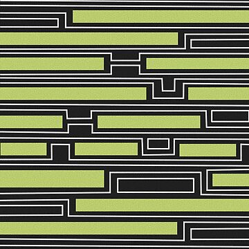 Geometry black, white and olive green by hellcom