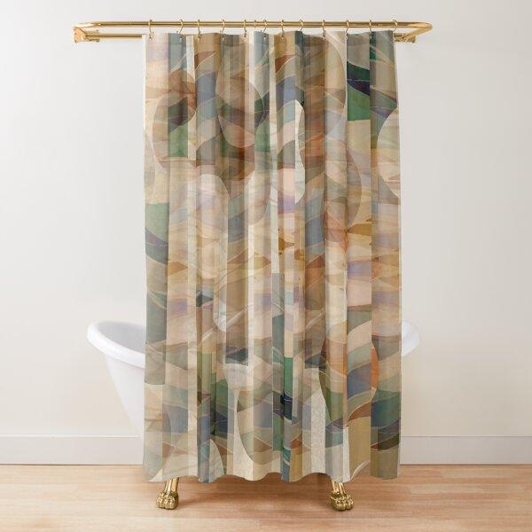 Canyon Falls Geometric Print Shower Curtain