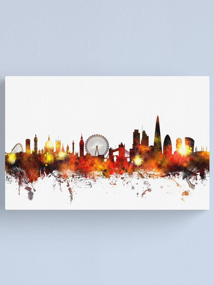 Alternate view of London England Skyline Canvas Print