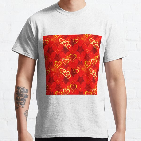 Decorative template.Love pattern. Classic T-Shirt