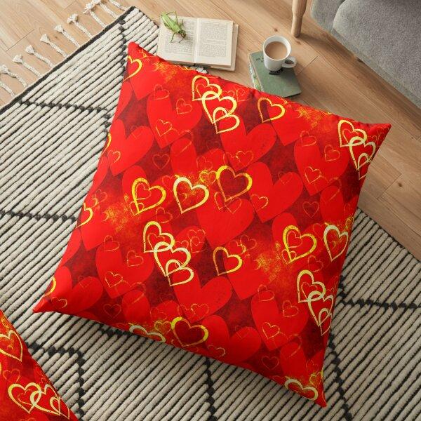 Decorative template.Love pattern. Floor Pillow
