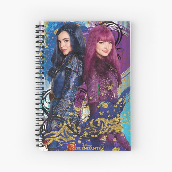 descendants poster Spiral Notebook