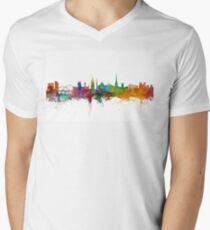 Newcastle England Skyline Men's V-Neck T-Shirt