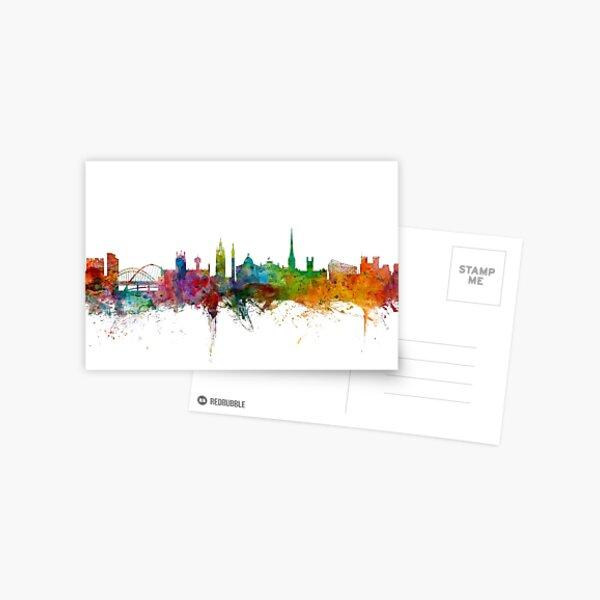 Newcastle England Skyline Postcard
