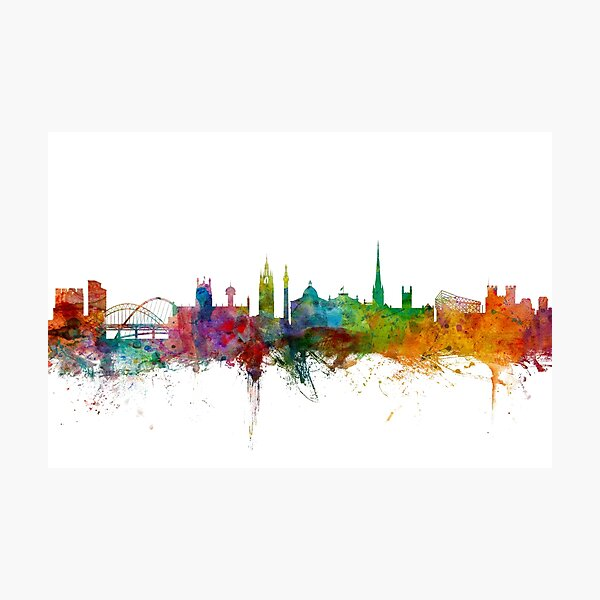 Newcastle England Skyline Photographic Print