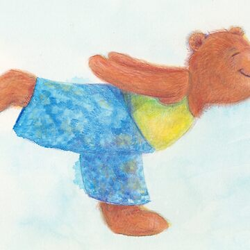 Grizzly Yoga Bear in Warrior 3 pose by MonicaArtist