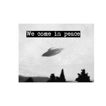 We come in peace vintage UFO shirt  by SOpunk