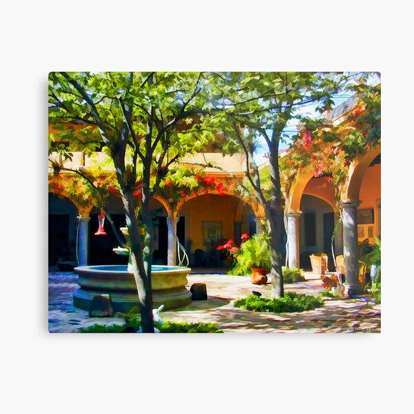 Villa Hermosa Courtyard #1 Metal Print