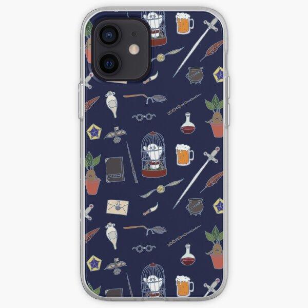 Chouette et baguette nuit Coque souple iPhone