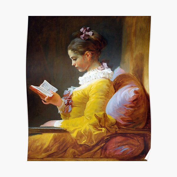 A Young Girl Reading-Jean-Honore Fragonard Poster
