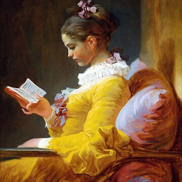 A Young Girl Reading-Jean-Honore Fragonard by LexBauer