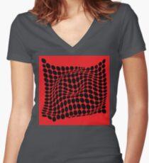 COME INSIDE (RED/BLACK) Camiseta entallada de cuello en V
