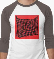 COME INSIDE (RED/BLACK) Camiseta ¾ estilo béisbol