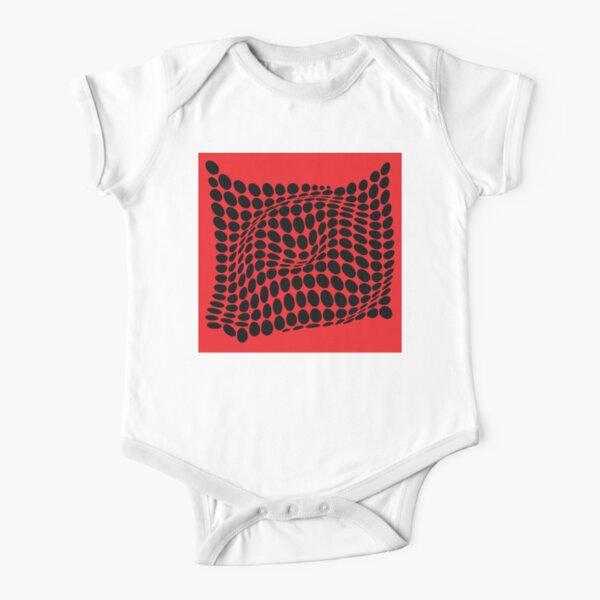 COME INSIDE (RED/BLACK) Body de manga corta para bebé
