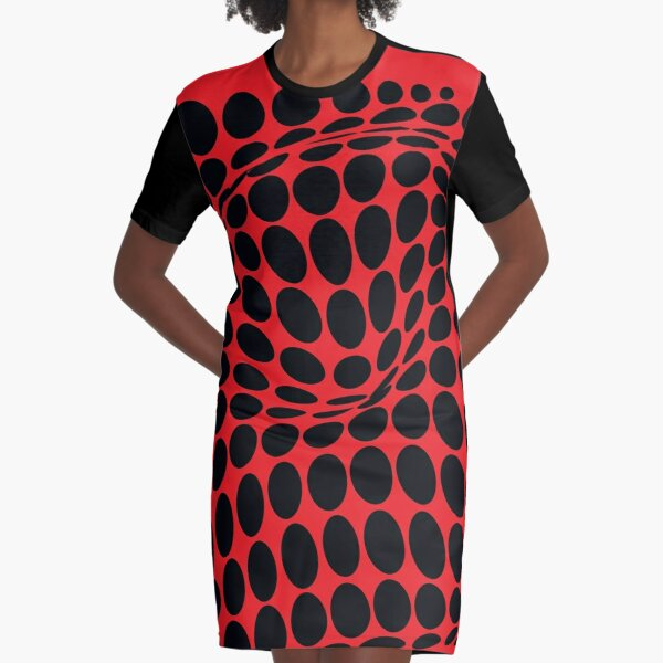 COME INSIDE (RED/BLACK) Vestido camiseta