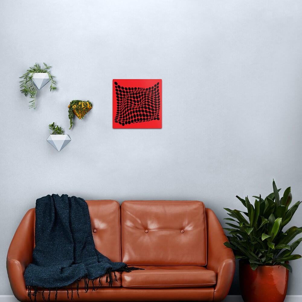 COME INSIDE (RED/BLACK) Lámina metálica