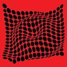 «COME INSIDE (RED/BLACK)» de geometricarte